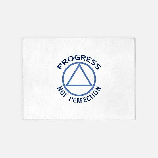 PROGRESS NOT PERFECTION 5'x7'Area Rug