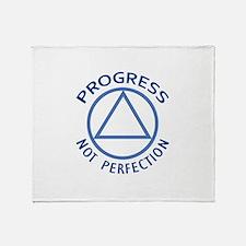 PROGRESS NOT PERFECTION Throw Blanket