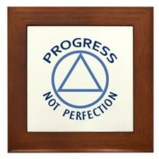 PROGRESS NOT PERFECTION Framed Tile