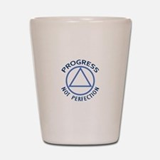 PROGRESS NOT PERFECTION Shot Glass