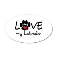 LOVE MY LABRADOR Wall Decal
