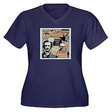 Poe Women's V-Neck Dark Plus Size T-Shirt