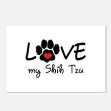 LOVE MY SHIH TZU Postcards (Package of 8)