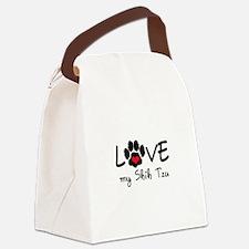 LOVE MY SHIH TZU Canvas Lunch Bag