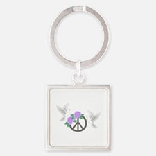 PEACE MONTAGE Keychains