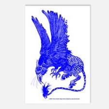 Hippogryph (Blue) Postcards (Package of 8)