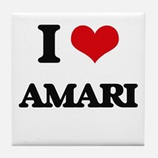 I Love Amari Tile Coaster