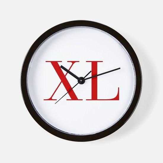 XL-bod red2 Wall Clock