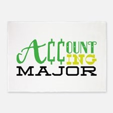 Accounting Major 5'x7'Area Rug