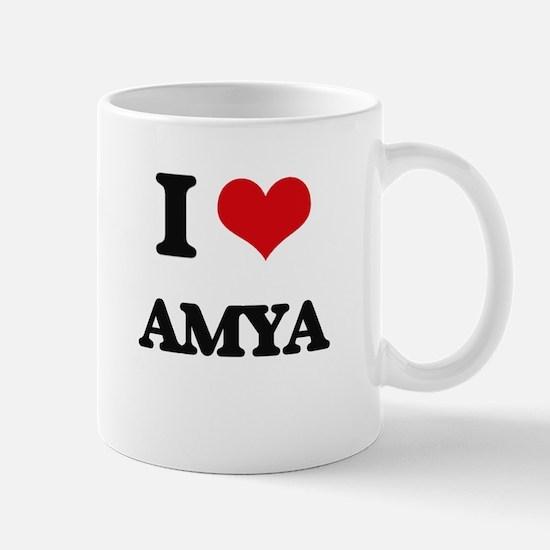 I Love Amya Mugs