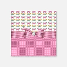 "Pastel Butterflies Square Sticker 3"" x 3"""