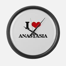 I Love Anastasia Large Wall Clock