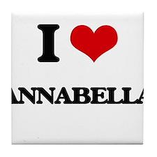 I Love Annabella Tile Coaster