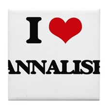 I Love Annalise Tile Coaster