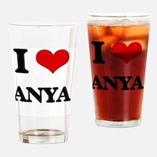 I Love Anya Drinking Glass