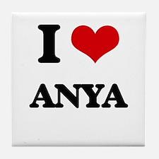 I Love Anya Tile Coaster
