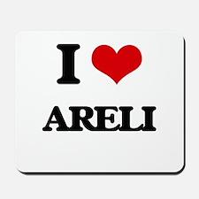 I Love Areli Mousepad