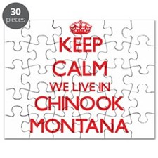 Keep calm we live in Chinook Montana Puzzle