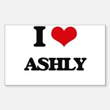 I Love Ashly Decal