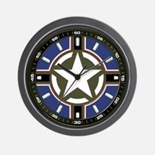 Us Army Star Wall Clock