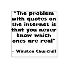 Winston Churchill Internet Quote Sticker
