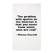 Winston Churchill Internet Quote Area Rug