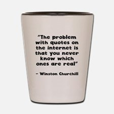 Winston Churchill Internet Quote Shot Glass