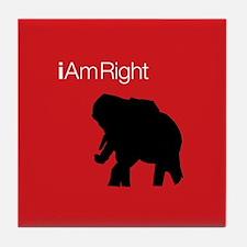 i Am Right. v3 Tile Coaster