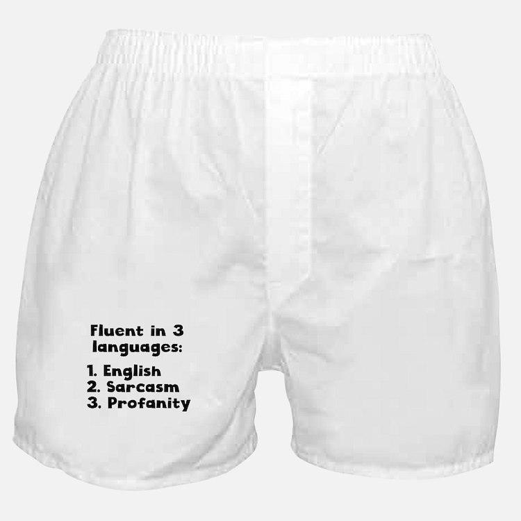 Fluent In 3 Languages Boxer Shorts