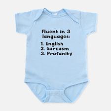 Fluent In 3 Languages Body Suit
