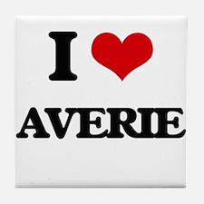 I Love Averie Tile Coaster