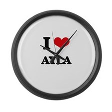 I Love Ayla Large Wall Clock