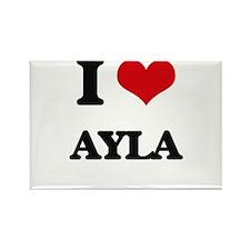 I Love Ayla Magnets