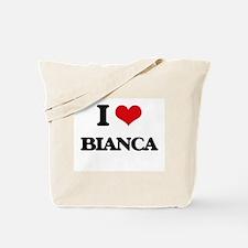 I Love Bianca Tote Bag