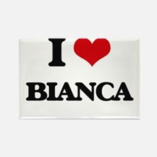 I Love Bianca Magnets