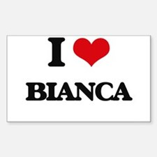 I Love Bianca Decal