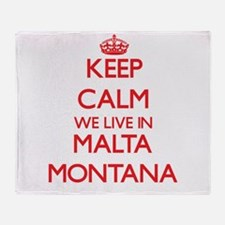 Keep calm we live in Malta Montana Throw Blanket