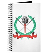 Golf Ball, Tee & Clubs Emblem Journal