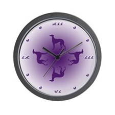 Greyhound Quartet Wall Clock