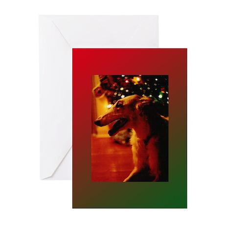 Christmas Borzoi Greeting Cards (Pk of 10)