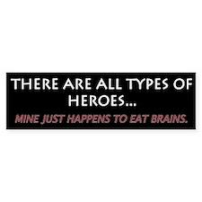 Eat Brains 1.0 Bumper Bumper Sticker