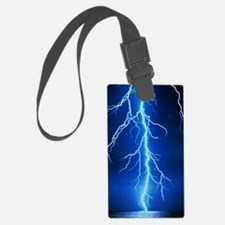Blue Lightning Bolt Luggage Tag