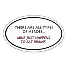 Eat Brains 1.0 Oval Decal