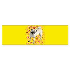 Love Pug Bumper Bumper Sticker