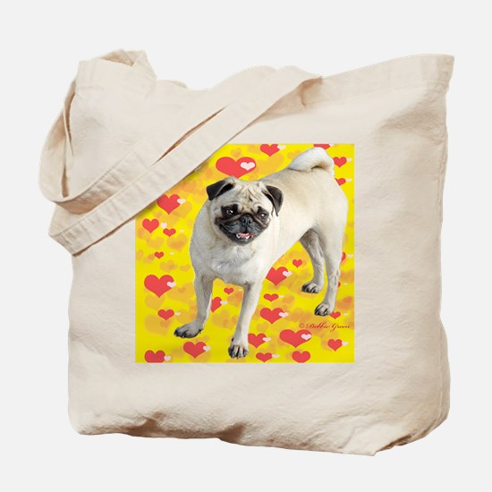Love Pug Tote Bag