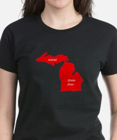 michigan_blank_red.png Tee