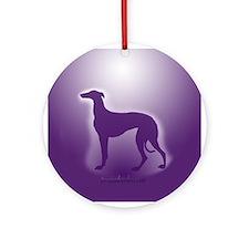 Greyound Ornament (Round)