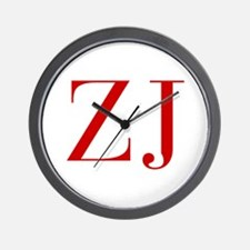 ZJ-bod red2 Wall Clock