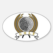 Classic Golf Emblem Oval Decal