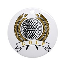 Classic Golf Emblem Ornament (Round)